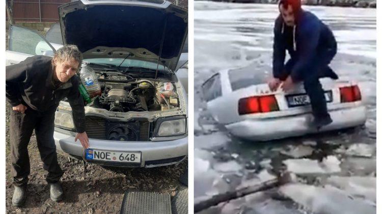 Submarinul nu se vinde! Ce spune șoferul care și-a înecat mașina în iaz de Bobotează după anunțul despre vânzarea ei.