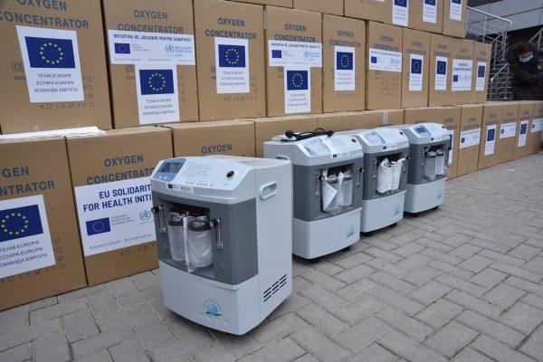 Echipamente medicale de 685.400 euro, donate de UE și OMS instituțiilor medicale implicate în combaterea COVID