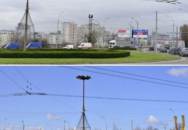 (FOTO) Primăria Chișinău continuă să evacueze panourile publicitare. Cum se schimbă la față Capitala