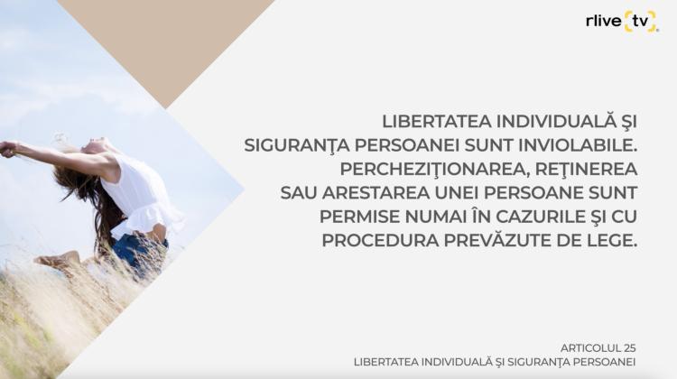 Articolul 25, Libertatea individuală şi siguranţa persoanei