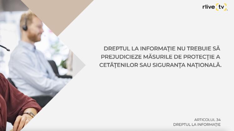 Articolul 34, Dreptul la informaţie