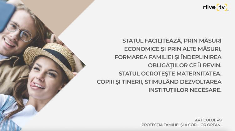 Articolul 49, Protecţia familiei şi a copiilor orfani
