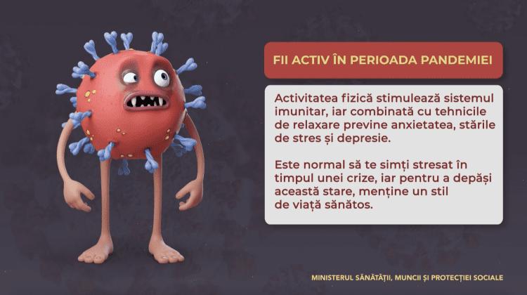 Fii activ în perioada pandemiei!