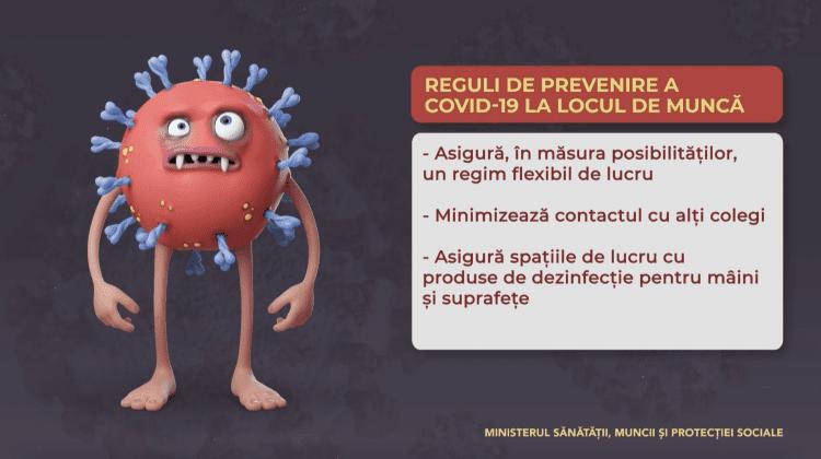 Reguli de prevenire COVID-19 la locul de muncă