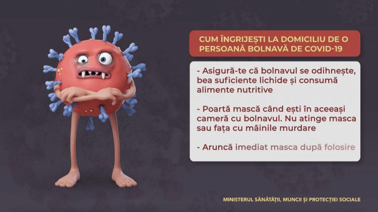 Cum îngrijești o persoană bolnavă de COVID