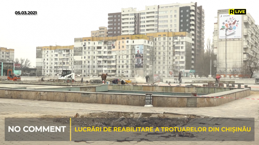 "(VIDEO) NO COMMENT! Renovarea zonei din preajma centrului comercial ""UNIC"""