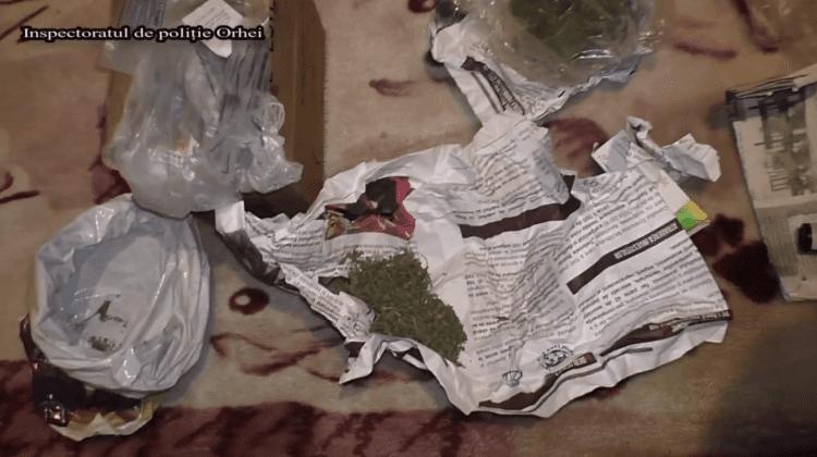 Patru bărbați, reținuți la Orhei pentru comercializare de marijuana. Un polițist infiltrat le-a demascat activitatea