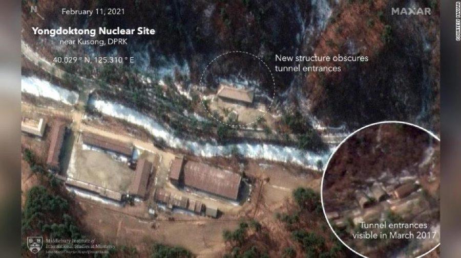 Noi imagini din satelit surprind Coreea de Nord încercând să își ascundă stocul de arme nucleare