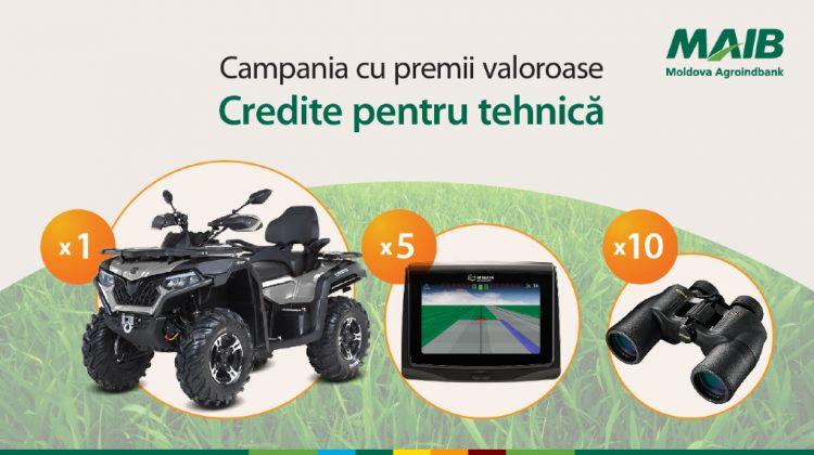 Ia un credit pentru utilaj agricol și participă la o tombolă cu premii valoroase