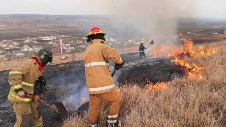 Cinci incendii devegetație, lichidate de pompieri în ultimele 24 de ore