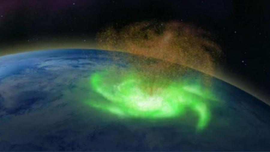 Moment UNIC surprins de camerele din cosmos – un uragan spațial