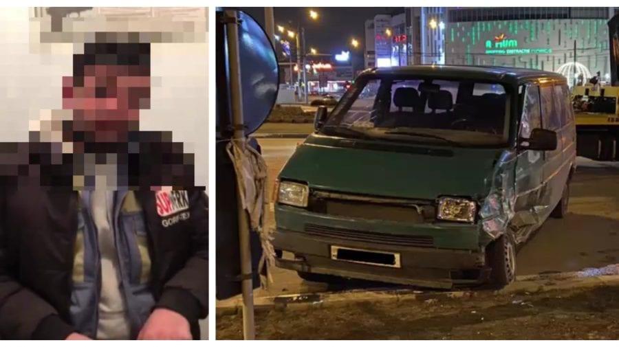 (VIDEO) A răpit un VW T4 din Colonița, dar l-a accidentat în centrul Capitalei, după care a fugit
