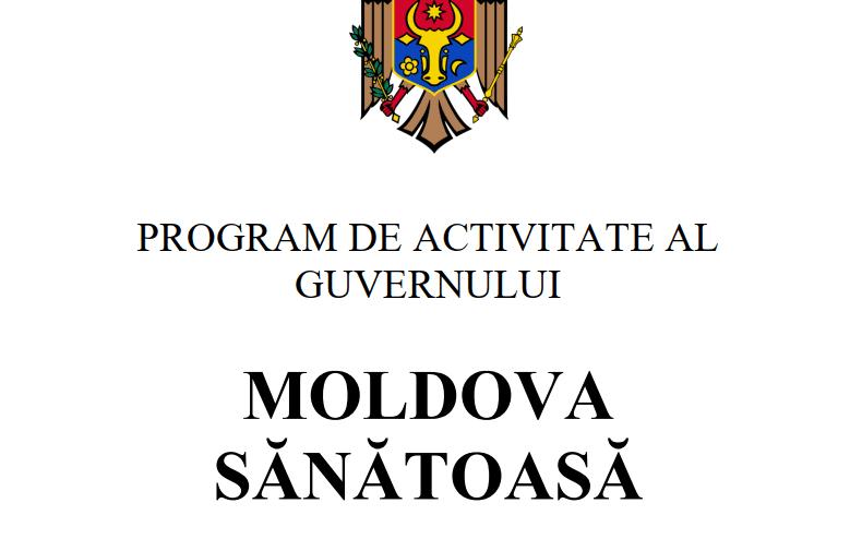 """(DOC) Din """"Moldova Bună"""", în """"Moldova Sănătoasă"""". Igor Grosu a făcut public Programul de guvernare"""