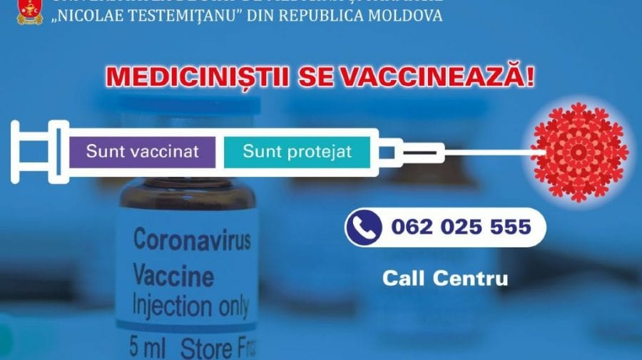 """A început campania de imunizare a studenților din cadrul USMF """"Nicolae Testemiţanu"""""""