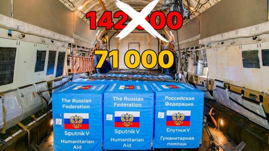 Lipsă de comunicare sau dezinformare? În Moldova au ajuns 71 de mii de doze Sputnik V, nu 142 de mii