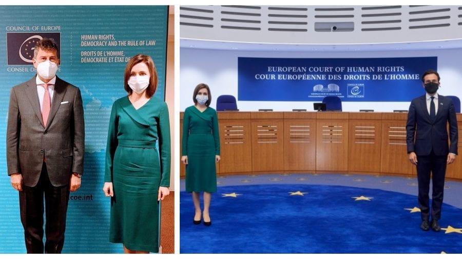 Încă două întrevederi cu oficiali europeni. Sandu s-a întâlnit cu președintele CEDO și Carlo Monticelli