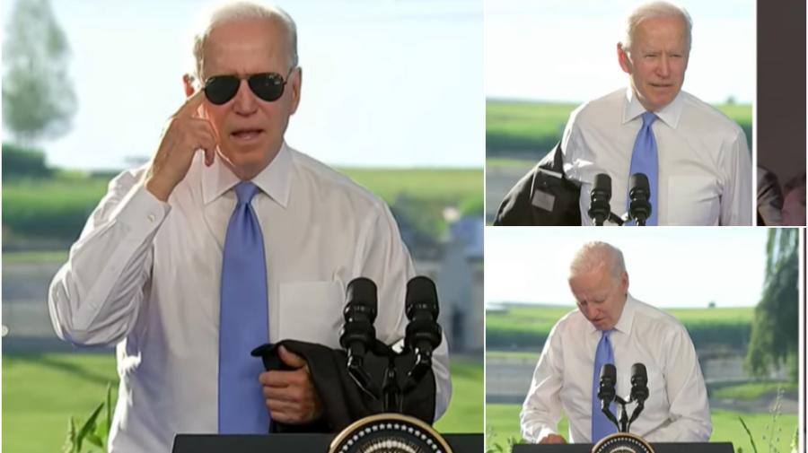 VIDEO Și-a lăsat sacoul, după care și-a pus și ochelari. Cum a început conferința lui Biden și cum s-a încheiat?