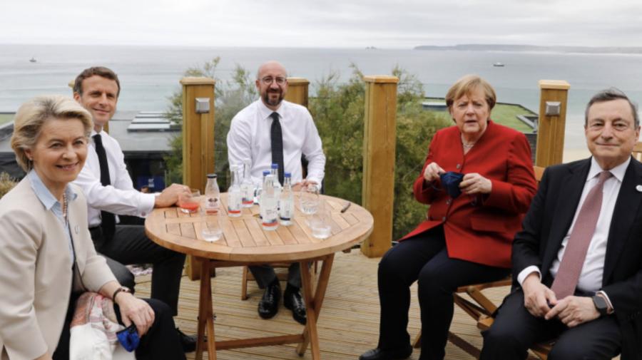 Summitul G7. Prima fotografie cu liderii UE la masă, după relaxarea restricțiilor în Europa