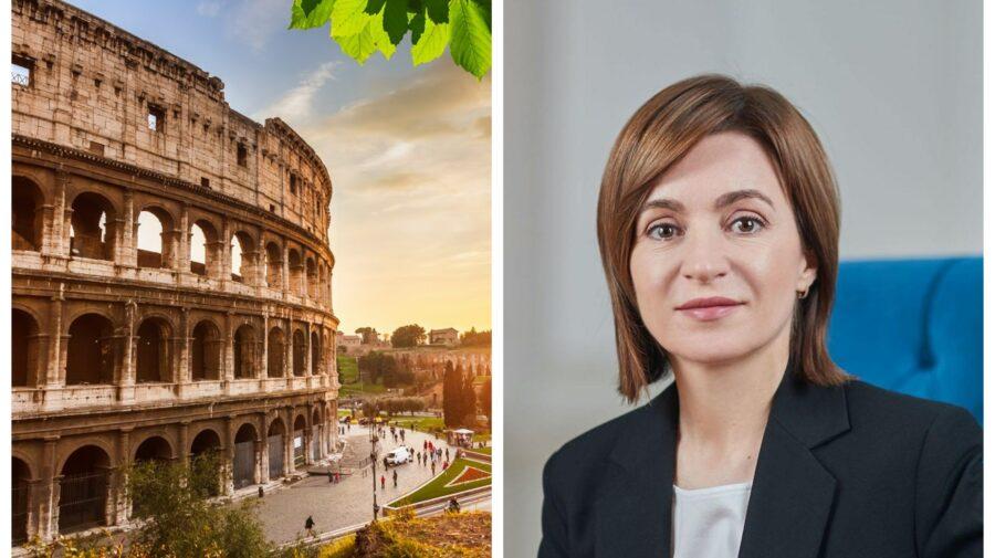 """""""Toate drumurile duc la Roma"""". Maia Sandu va efectua o vizită oficială în Italia la sfârșitul săptămânii"""