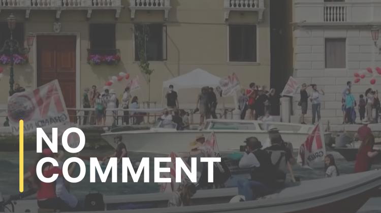 Veneția: proteste față de revenirea vaselor de croazieră în lagună