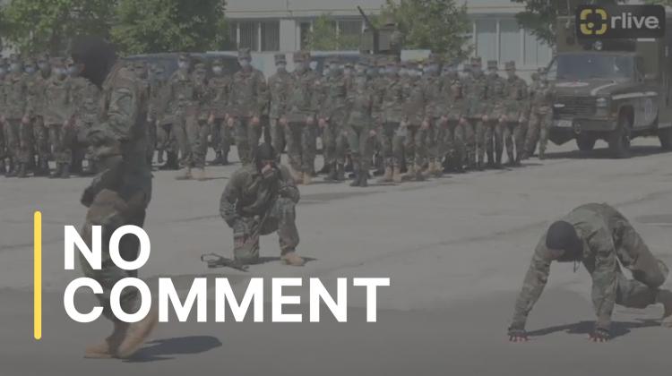 Exerciții demonstrative de luptă corp la corp, la Armata Națională