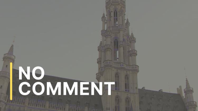 Bruxelles: Piața Mare, iluminată în culorile NATO, înainte de summit