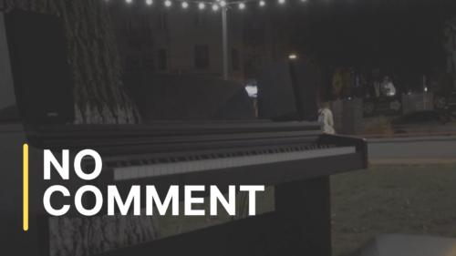 Primul pian stradal la Chișinău: oricine poate cânta la instrument