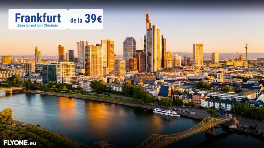 FLYONE lansează o destinație nouă – Frankfurt de la 39 EURO!