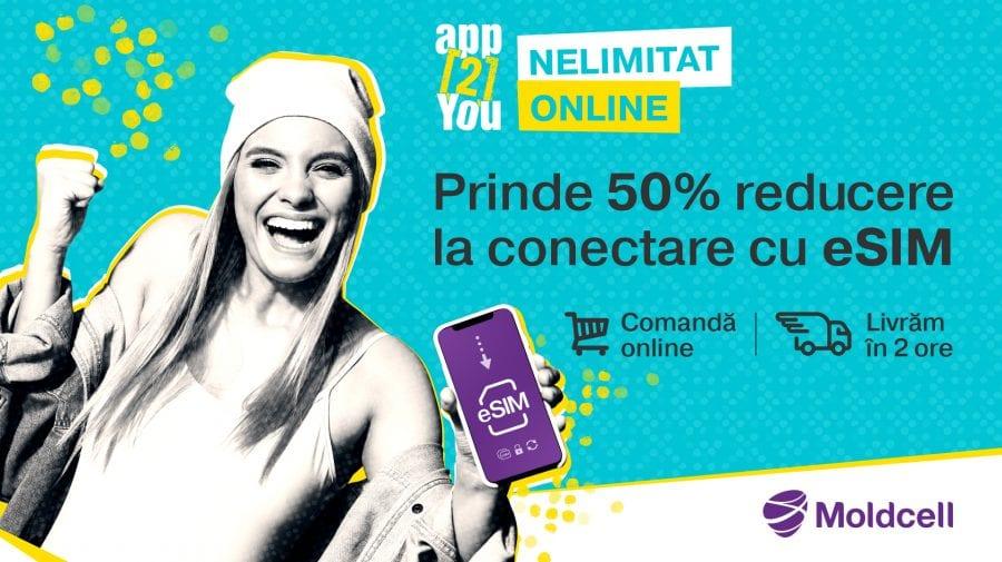 app2You și eSIM îți oferă Nelimitat Online, acum cu 50% reducere