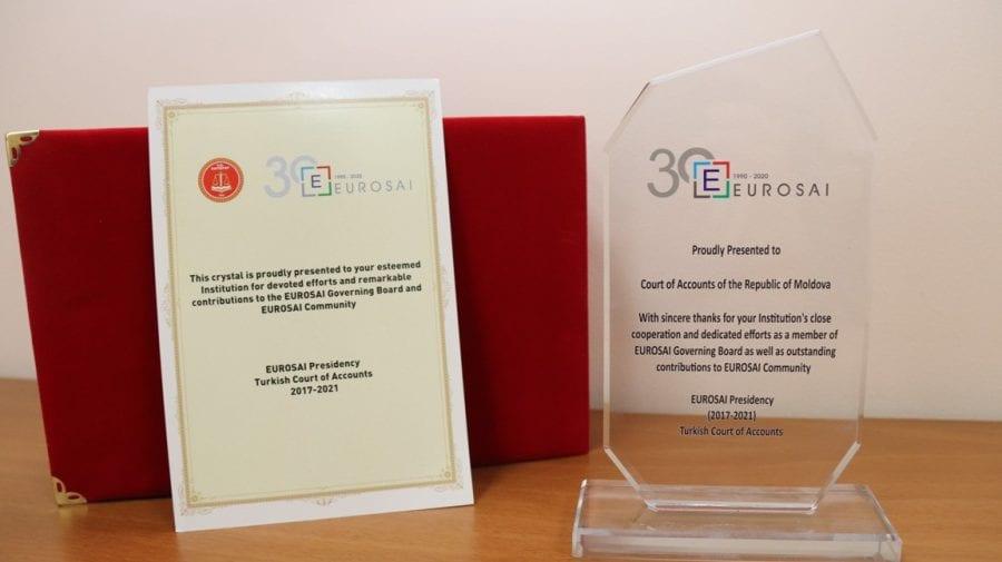 Premiu special pentru Curtea de Conturi din partea Președinției EUROSAI