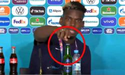 VIDEO Un fotbalist musulman, șocat că i s-a pus bere pe masa de la conferința, susținută după meci. Ce a făcut cu ea?