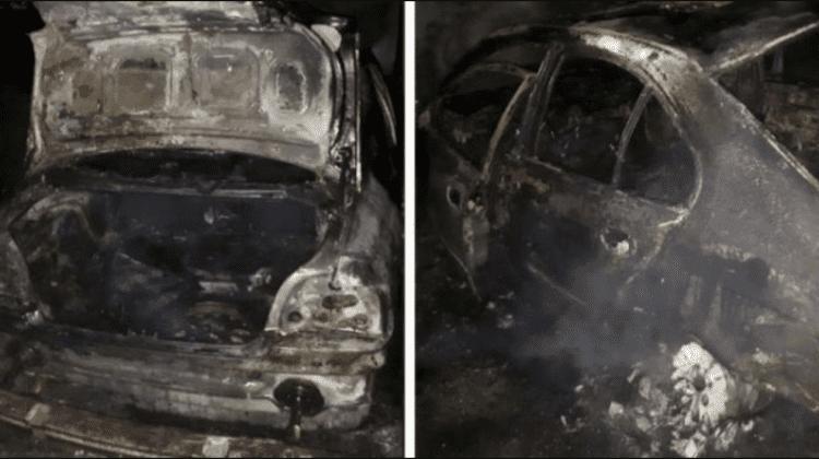 Automobilul unui tânăr din Hîncești a luat foc din mers
