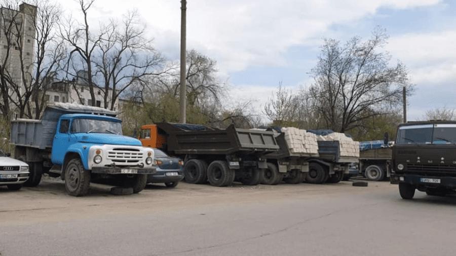 Nu vor mai fi pe Calea Basarabiei. Ceban despre camioanele cu materiale de construcție
