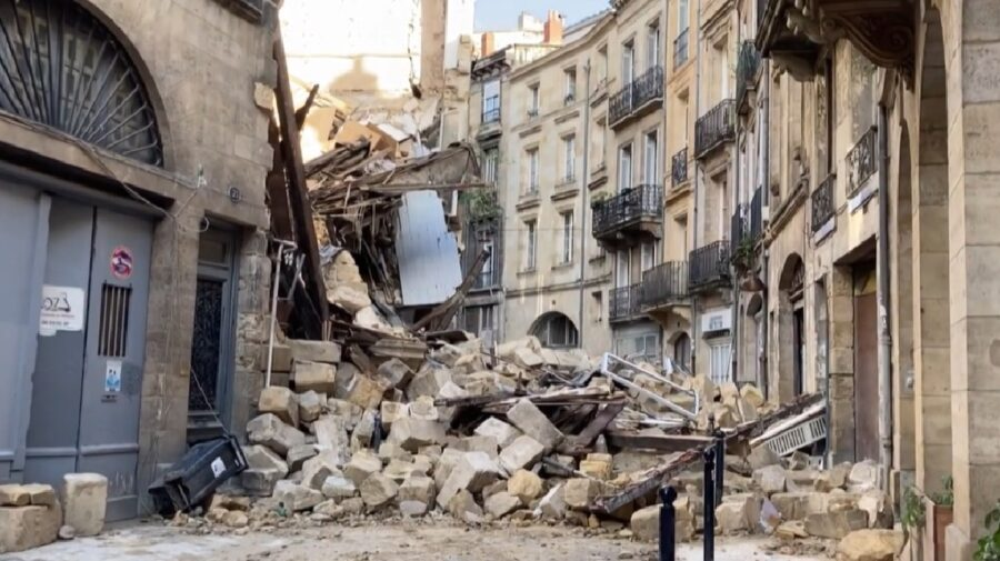 Două clădiri s-au prăbușit în sud-vestul Franței. Trei persoane – rănite