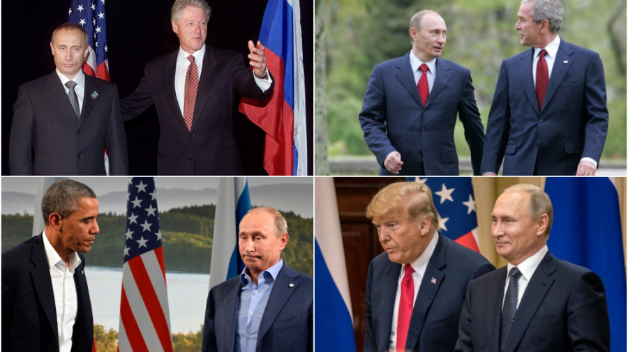 Imagini VIDEO rare! Putin și președinții SUA cu care s-a întâlnit înainte de Biden