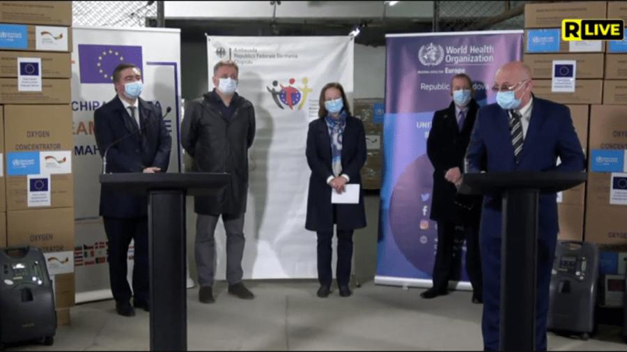 (VIDEO) Republica Moldova a recepționat încă 300 de concentratoare de oxigen donate de Germania