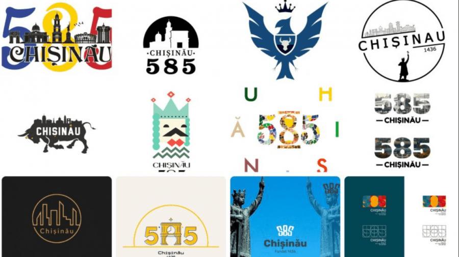Cel mai reușit logo pentru aniversarea de 585 de ani a Chișinăului, ales de locuitorii Capitalei