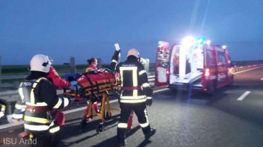 Accident grav pe o autostradă din România! Printre răniți, este o persoană din Republica Moldova