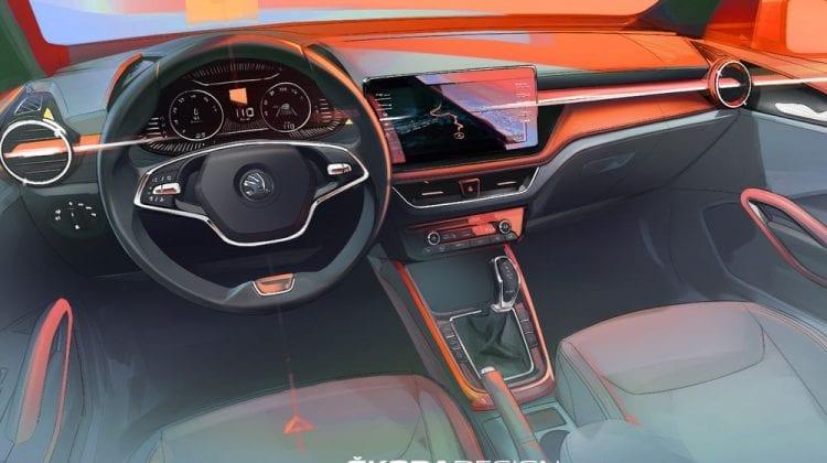 Noua Skoda Fabia – Display central generos, elemente cromate și sistem Virtual Cockpit,