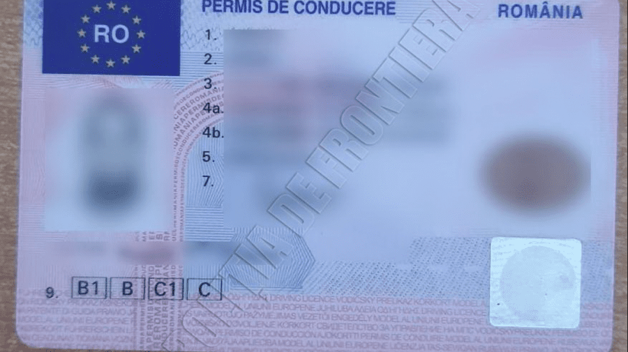Telenovelă moldovenească! Un tânăr a fost prins în țară, cu permis de conducere românesc fals, dar perfectat în Franța