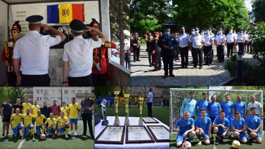 Zi specială la Poliția Capitalei! Angajații MAI au jucat fotbal astăzi. A fost un omagiu