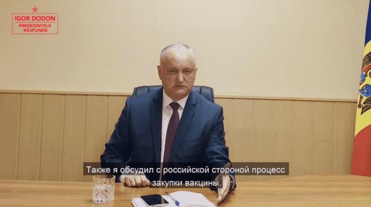 Din Ambasada Moldovei la Moscova Dodon anunță când va ajunge Sputnik V la Chișinău