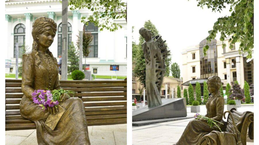 Veronica Micle va fi mai aproape de Mihai Eminescu! Sculptura muzei poetului a fost inaugurată în Capitală