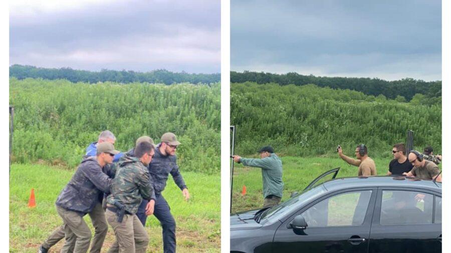 FOTO Ofițerii SPPS, surprinși pe un câmp departe de ochii lumii. Pentru ce se pregătesc?