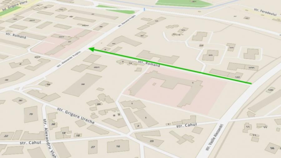 Atenție, șoferi! Pe un tronson al străzii Romană din Chișinău, circulația va fi stabilită în sens unic