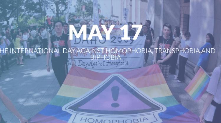 17 mai – Ziua internaţională de luptă împotriva homofobiei, transfobiei şi bifobiei