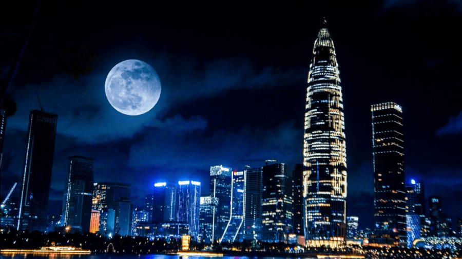 """(GALERIE FOTO) Cum s-a văzut noaptea trecuta pe cer """"Superluna sângerie"""", un fenomen astronomic major"""
