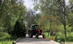 (VIDEO) Pукожопствo (cuvântul primarului Ion Ceban) lucrătorilor de la Spații Verzi în Parcul Valea Trandafirilor