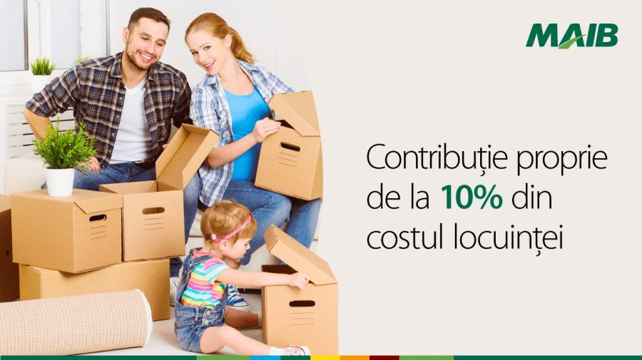 Creditele imobiliare MAIB: Mai simplu, mai ieftin, mai rapid, de la 10% contribuție proprie
