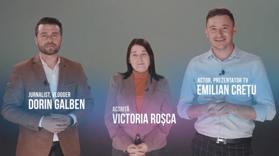 (VIDEO) Emilian Crețu, Victoria Roșca și Dorin Galben te îndeamnă să te înregistrezi prealabil la alegeri